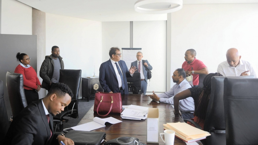 "SOUTH AFRICA - Cape Town - 09-October- 2019 - The Financial Sector Conduct Authority (FSCA) raided Dr Iqbal Survé's offices in Cape Town this morning, in what the businessman described as a ""fishing expedition"" and ""an intimidation tactic"". Management and staff said the FSCA, accompanied by police officers, pounced on the offices of Sekunjalo Holdings and African Equity Empowerment Investment (AEEI) without prior notice and tried to confiscate laptops and computer hard drives.The FSCA team arrived at Sekunjalo's offices near the V&A Waterfront saying they were probing a case of irregularly share trading against one of Survé's companies, AYO Technology Solutions.  Photographer Ayanda Ndamane/African NewsAgency (ANA)"